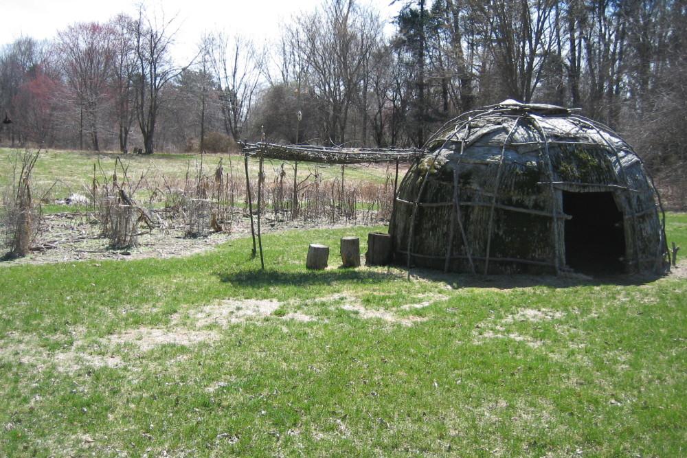 Algonquin Bark Covered Wigwam Living Stone Age